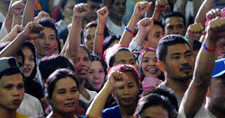 Discordant mood music in Philippines