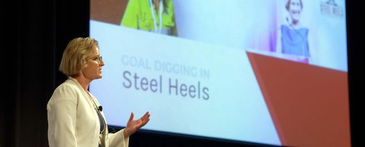 Goal digging in steel heels