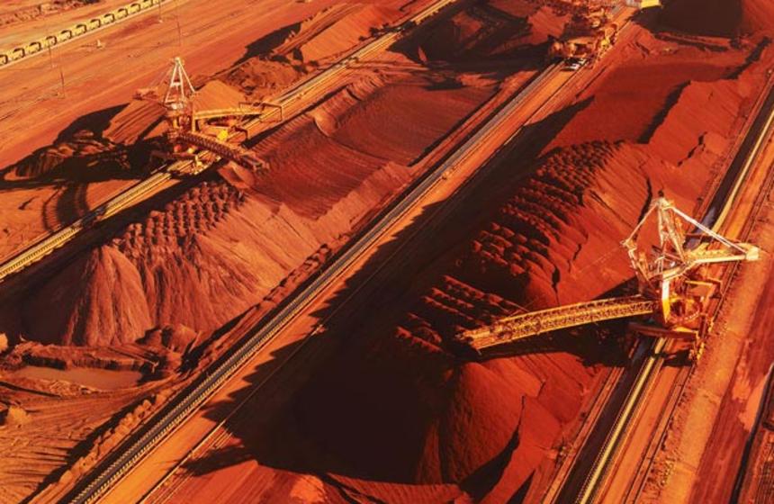 Bolsa chinesa ajusta padrão de minério de ferro de alto teor